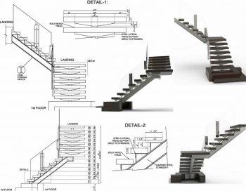 Page Of Steel Stair Shop Drawings