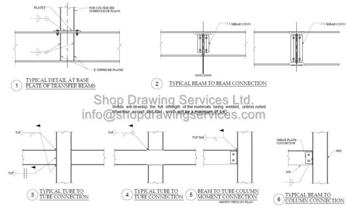 Steel Structural Shop Drawings