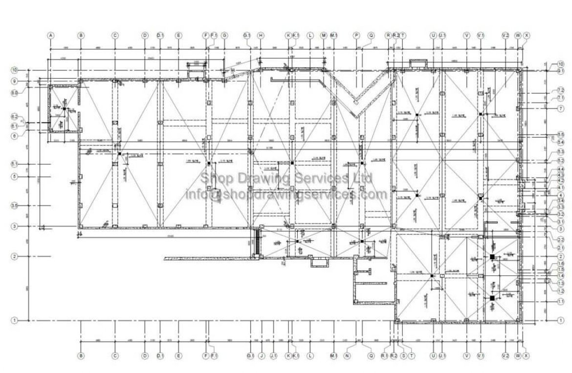 structural slab shop drawings