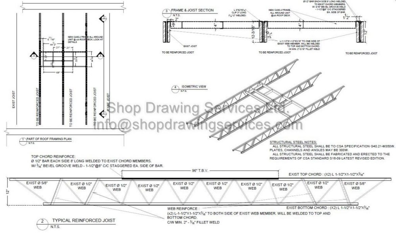 Structural Steel Reinforce Shop Drawings