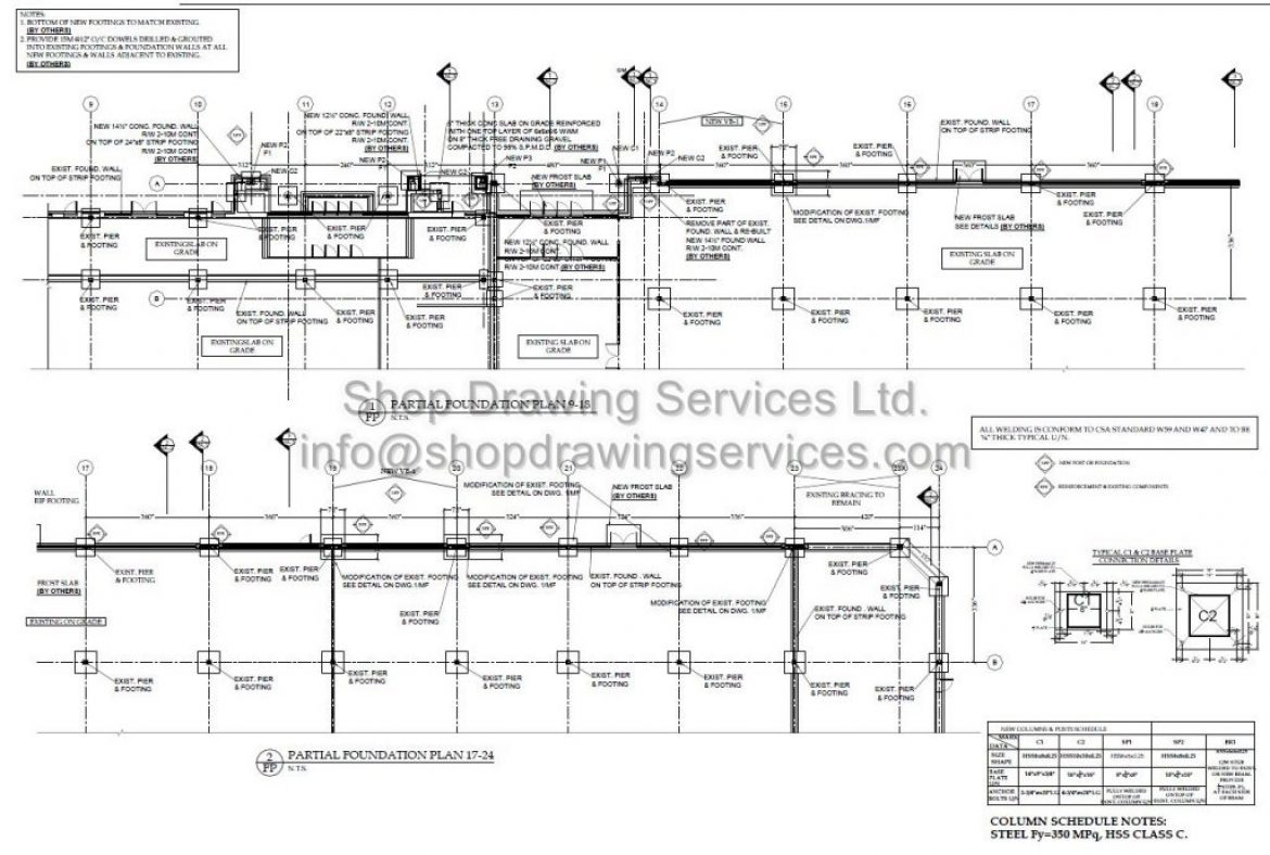 Structural Steel Shop Drawings Sample