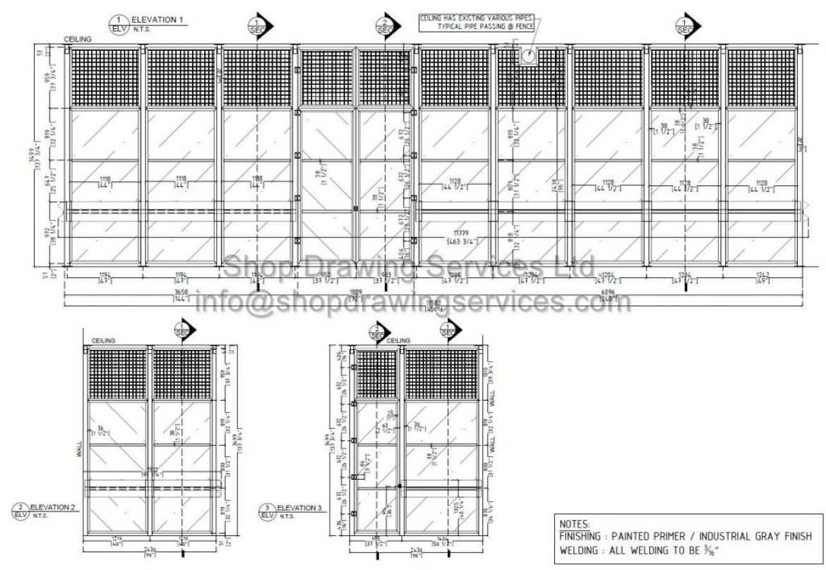 Various Steel Framing Shop Drawings